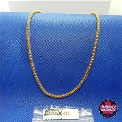 """Chain - Bead Mesh (20"""") Yellow Gold - 14k Overlay Stainless"""