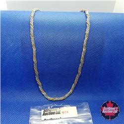 """Chain - Mesh (20"""")  - 14k Overlay Stainless"""