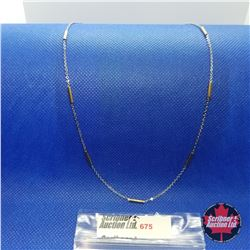 """Chain - ION Plate  - 14k Overlay Stainless  (20"""")"""