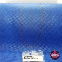 "Chain -  - 14k Overlay Stainless  (18"")"