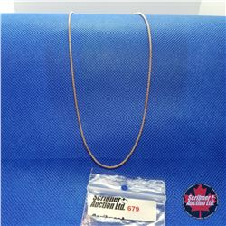 "Chain - Rose Gold Colour (18"")"