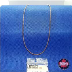 """Chain - Box (20"""")  - 14k Overlay Stainless"""