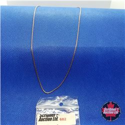 "Chain - Rose Gold Box (20"")"