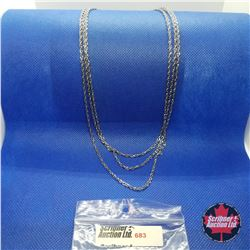 """Chain - Singapore Triple Strand (18"""") Stainless"""
