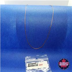 "Chain - Italian Boston Link (16"") - Sterling Silver"