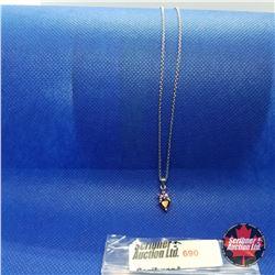 """Necklace - Purple Trillium Stone (20"""")"""