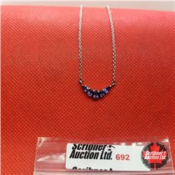 """Necklace - Iolite (20"""") - Sterling Silver"""