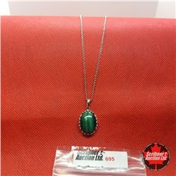 Necklace - Malachite Stainless
