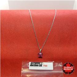 "Necklace - Mystic Ruby Quartz (20"") - Sterling Silver"