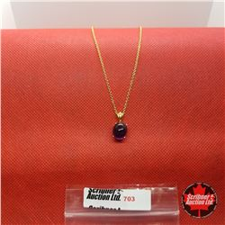 """Necklace - Purple Cabochon (18"""")"""