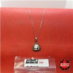 Necklace - Peanut Wood Jasper (20') - Sterling Silver