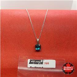 "Necklace - Titanium Quartz Diamond (20"") - Sterling Silver"