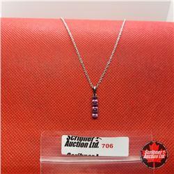 "Necklace - Garnet (20"") - Sterling Silver"