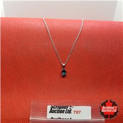 """Necklace - London Blue (24"""") - Sterling Silver"""