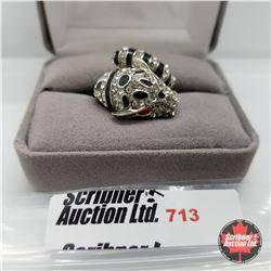 Ring - Size 6: Jaguar Austrian Crystal - Stainless