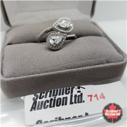 Ring - Size 9: Simulated Diamond Sterling - Stainless