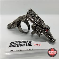 Ring - Size Adjustable: Crocodile Hinged Stainless