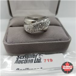 Ring - Size 9: Austrian Crystals Band Stainless