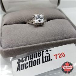Ring - Size 7: Simulated Diamond Platinum Bond Overlay