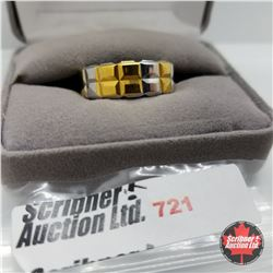 Ring - Size 10: Two Tone Band Stainless