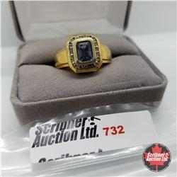 Ring - Size 10: Titanium - 14k Overlay Stainless
