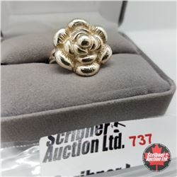 Ring - Size 6: Flower Stainless