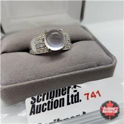 Ring - Size 10: Rose Quartz Platinum Bonded Overlay