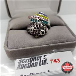 Ring - Size 6: Austrian Crystals - Snake Stainless