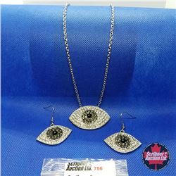 "Set - Crystal Evil Eye (20"") Stainless"