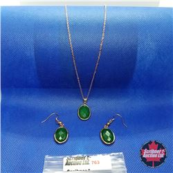 "Set - Green Quartzite (18"") Stainless"