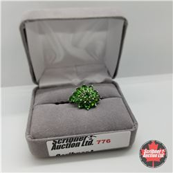 Ring - Size 7: Russian Diopside Platinum Bond Overlay (w/Box)