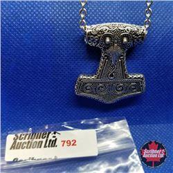 """Pendant - Thor's Hammer (20"""") Stainless"""