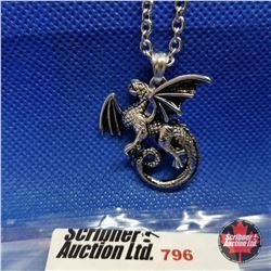 "Pendant - Dragon (20"") Stainless"