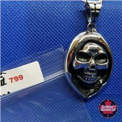 """Pendant - Skull (20"""") Stainless"""