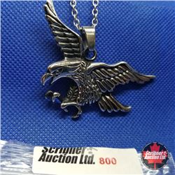 """Pendant - Eagle (20"""") Stainless"""