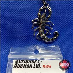 "Pendant - Scorpion (20"") Stainless"