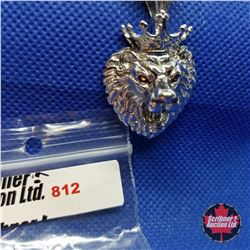 """Pendant - Lion (20"""") Stainless"""
