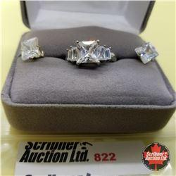 Set - Simulated Diamond Size 6 Stainless