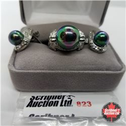 Set - Peacock Pearl Size 7 Stainless