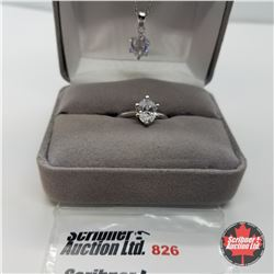 """Set - Simulated Diamond Size 6 (20"""") - Sterling Silver"""