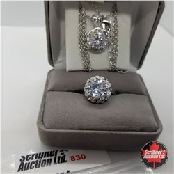 """Set - Simulated Diamond Size 7 (20"""") - Sterling Silver"""