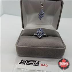 "Set - Tanzanite Size (6) (20"") - Sterling Silver - Platinum Bond Overlay"