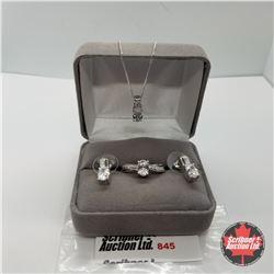 "Set - Swarovski Crystal Size 9 (20"") - Sterling Silver"