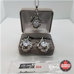"Set - Simulated Diamond (20"") - Sterling Silver"
