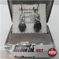 Earrings - Laboradite - Silver