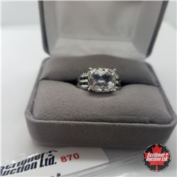 Ring - Size 8: Topaz Golconda Black Spinel - Sterling Silver - Rare !