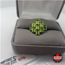 ring- Size 8: Peridot - Sterling Silver