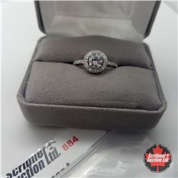 Ring - Size 9: Simulated Diamond - Sterling Silver