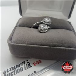 Ring - Size 8: Simulated Diamond - Sterling Silver - Stainless