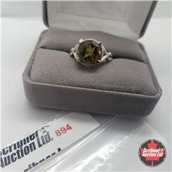 Ring - Size 8: Cognac Quartz - Sterling Silver